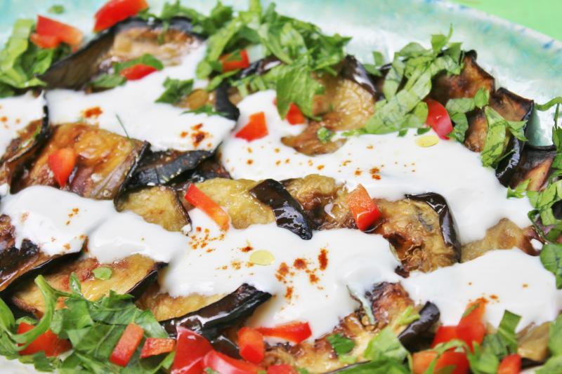 Eggplant with yogurt
