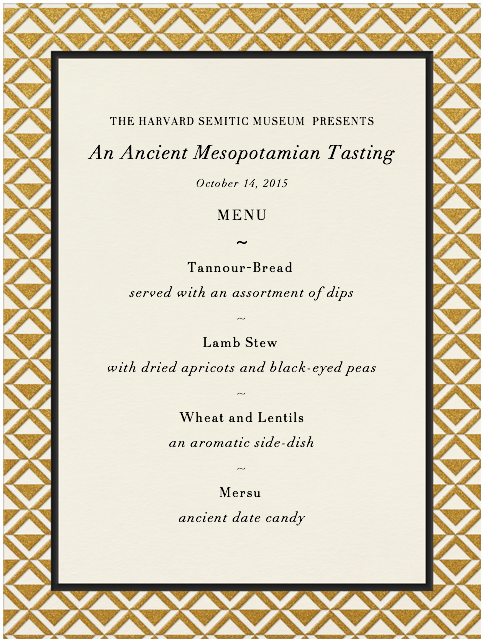 Mesopotamian menu