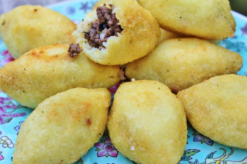 kubbat Halab (stuffed rice dough)
